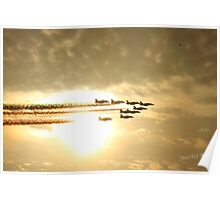 Red Arrows Sunset Poster