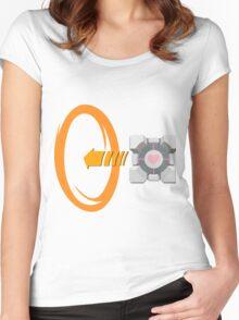 Orange portal love Women's Fitted Scoop T-Shirt