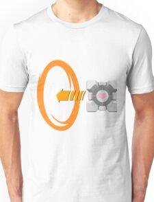 Orange portal love Unisex T-Shirt