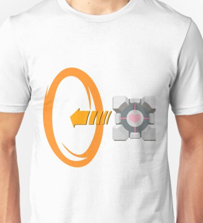 Orange portal love Unisex T-Shirt