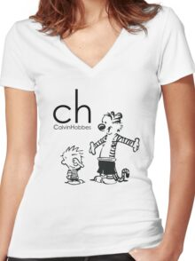 ch one Women's Fitted V-Neck T-Shirt