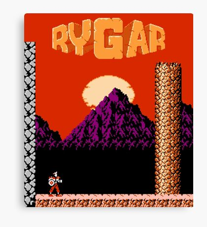 Rygar (NES Title Screen) Canvas Print