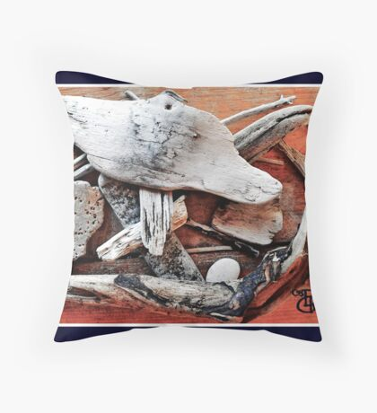Therapeutic Driftwood Throw Pillow