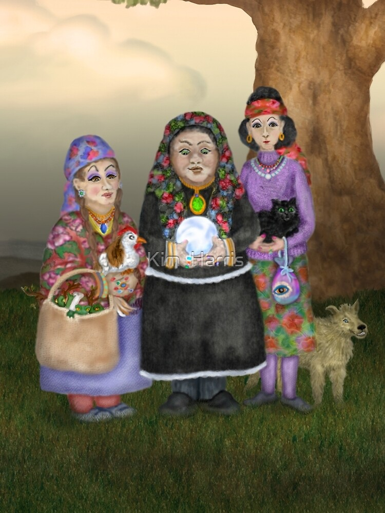 The Three Romanian Witches by Kim  Harris