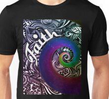 Faith Abstract Design with Rainbow Star Swirl Unisex T-Shirt
