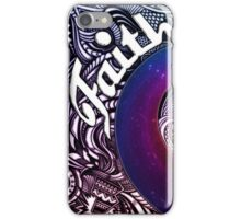 Faith Abstract Design with Rainbow Star Swirl iPhone Case/Skin