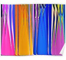 Coloured Glass Bottles Poster