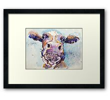Haughty Cow Framed Print