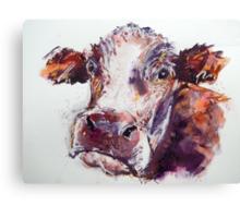 Gloomy Cow Canvas Print