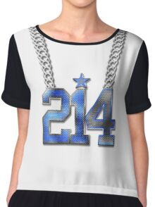 214 Bling On A Chain (Blue 21/White 4) Chiffon Top