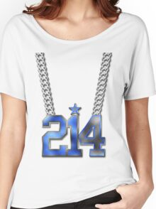 214 Bling On A Chain (Blue 21/White 4) Women's Relaxed Fit T-Shirt
