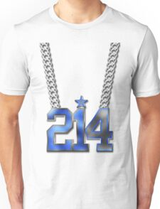 214 Bling On A Chain (Blue 21/White 4) Unisex T-Shirt