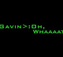 Gavin Free Code Quote by whimsicalartist