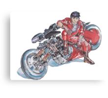 Akira by Katsuhiro Otomo Watercolor Tribute to Kaneda Canvas Print