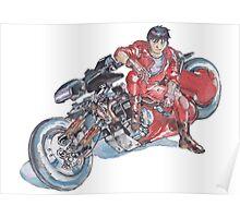 Akira by Katsuhiro Otomo Watercolor Tribute to Kaneda Poster