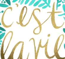That's Life – Turquoise & Gold Sticker