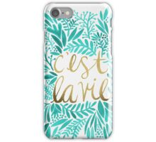 That's Life – Turquoise & Gold iPhone Case/Skin