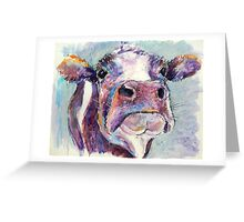 Purple Cow Greeting Card