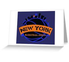 New York Basketball Association Greeting Card