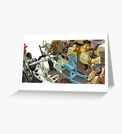 Rocking Horses Greeting Card