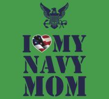 I LOVE MY NAVY MOM One Piece - Short Sleeve