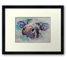 Cheeky Cow Framed Print