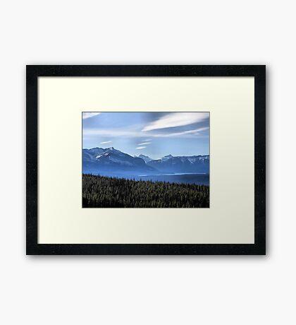 Misty Blue Mountains Framed Print