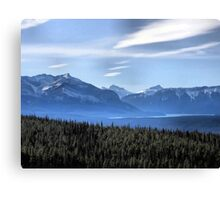 Misty Blue Mountains Canvas Print