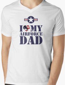 I LOVE MY AIRFORCE DAD Mens V-Neck T-Shirt