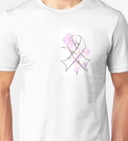 Orchid Breast Cancer Ribbon Unisex T-Shirt
