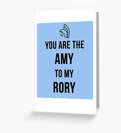 Amy+Rory Greeting Card