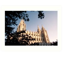 Temple Square Art Print