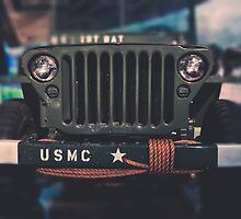 Marine Jeep in Color by Kadwell