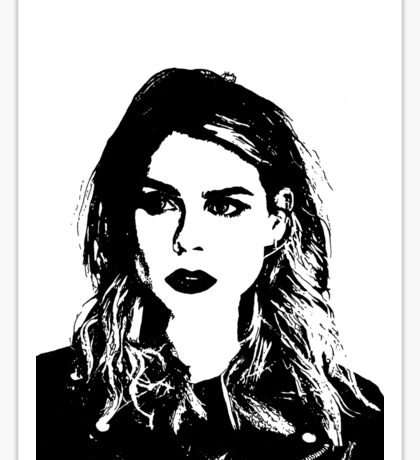 High Contrast Billie Piper Sticker