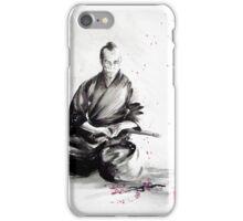 Samurai sepuku acts, japanese warrior ink painting iPhone Case/Skin