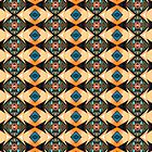 Orange And Blue Pattern by perkinsdesigns