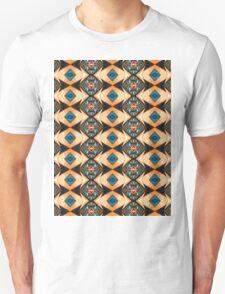 Orange And Blue Pattern Unisex T-Shirt