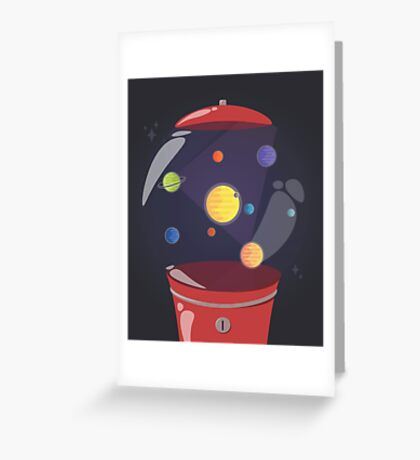 Gumball Machine In Space Greeting Card