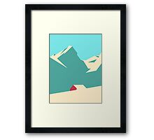 THE MOUNTAINS HOUSE  Framed Print