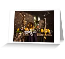 Still Life with Roemer & Lemons Greeting Card
