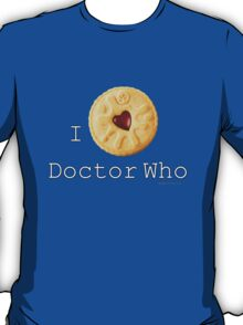 I love Doctor Who (Jammie Dodger) T-Shirt