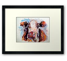 Sad Cow Framed Print
