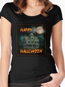 Haunted Mansion - Happy Halloween Women's Fitted Scoop T-Shirt