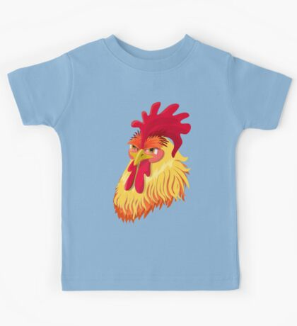 The emotional version of the character - angry cock.  Kids Tee