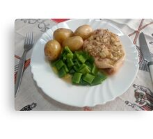Chicken Breasts In Red-wine Vinegar, Rosemary And Garlic Canvas Print