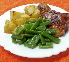 Chicken Legs In Lemon Garlic And Honey by Michael Redbourn