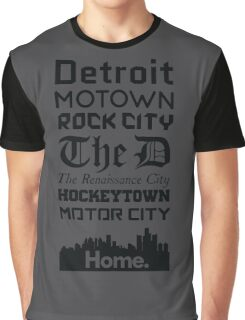 Detroit Is My Home - Black Edition Graphic T-Shirt