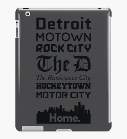 Detroit Is My Home - Black Edition iPad Case/Skin