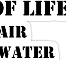 The Necessities Of Life: My Family - Black Text Sticker