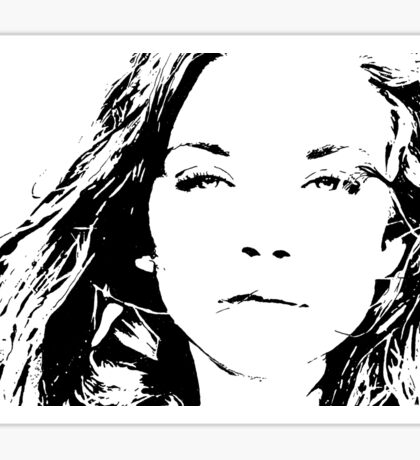 High Contrast Natalie Dormer Sticker